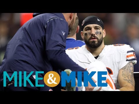 Doctors trying to save Bears TE Zach Millers' leg after Week 8 injury | Mike & Mike | ESPN