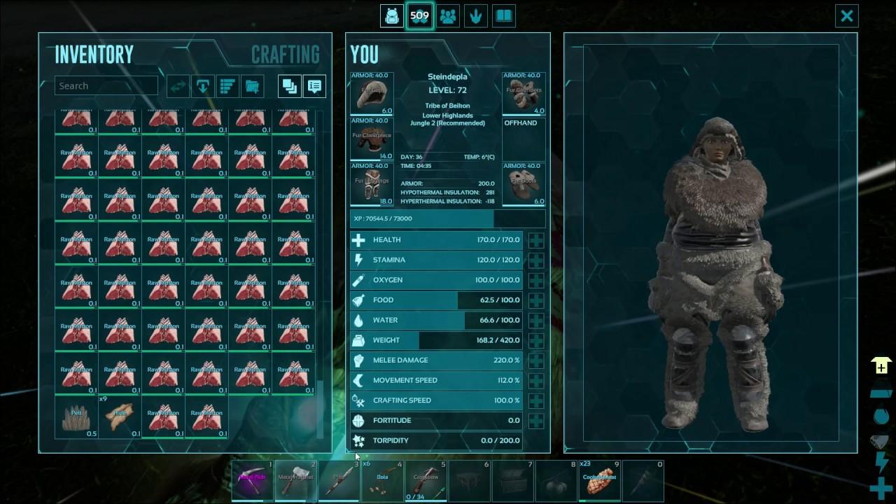 Ark Quick Item Slots