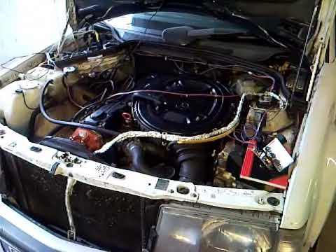 Engine Running with distributorless spark on Mercedes Benz