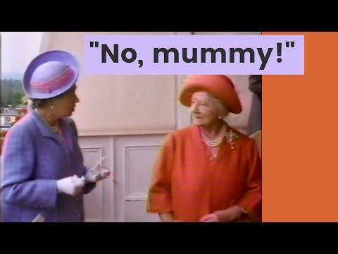 Queen Elizabeth II talks back to her mum
