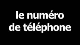 French word for telephone number is lenumérodetéléphone