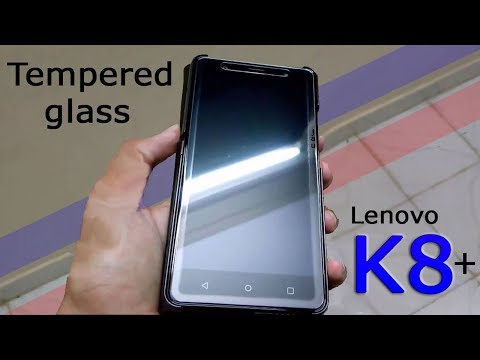 detailed look 5e007 de8ef Affix tempered glass for Lenovo K8 plus-(unboxing,Installation ...