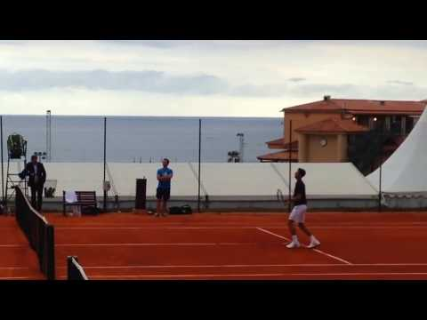 Novak Djokovic DOES TRICKS! smash practice (2016)