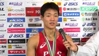 男子フリースタイル65kg級優勝・高谷大地(自衛隊)