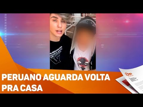 Peruano aguarda volta pra casa - TV SOROCABA/SBT