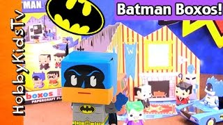 Batman Boxos Funko Papercraft Kit! Fast Speed Assembly Robin Joker Bat Mobile by HobbyKidsTV