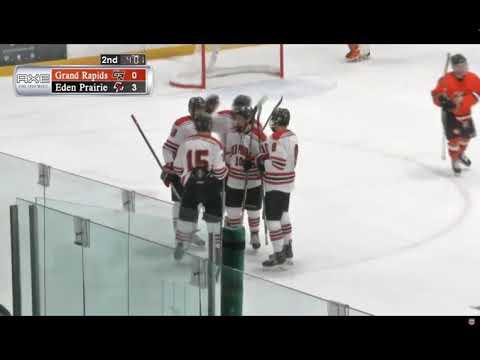 Jensen scores a pair of goals for Eden Prairie -- 12/15/17