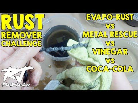 Rust Remover Test! Evaporust vs Metal Rescue vs Vinegar vs Coke
