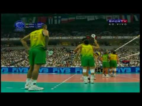 4º SET BRASIL 3 X 2 SERVIA FINAL WORLD LEAGUE 2009