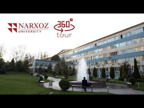 Виртуальный тур по Университету Нархоз (360 video)
