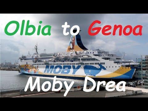 Olbia to Genova ferry trip on MS Moby Drea