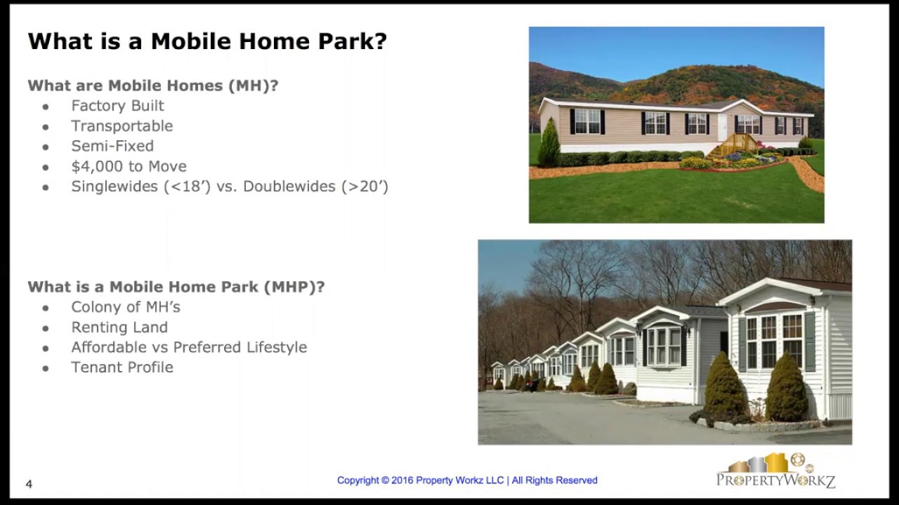 Webinar How To Invest In Mobile Home Parks With Bryce Robertson