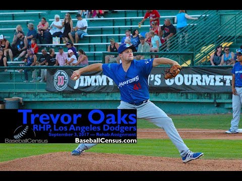 Trevor Oaks, RHP, Los Angeles Dodgers — September 3, 2017