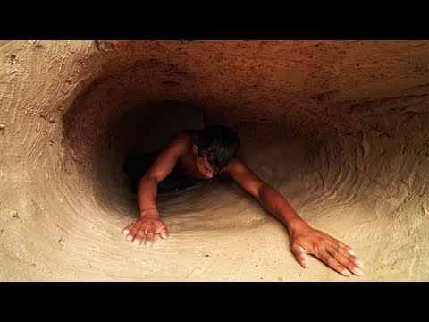 Building Secret House Tunnel Underground And Slide Swimming Pool Underground