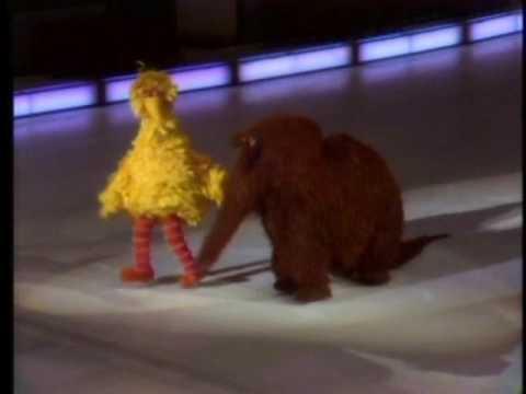 Sesame Street - Big Bird And Snuffy Ice Skate