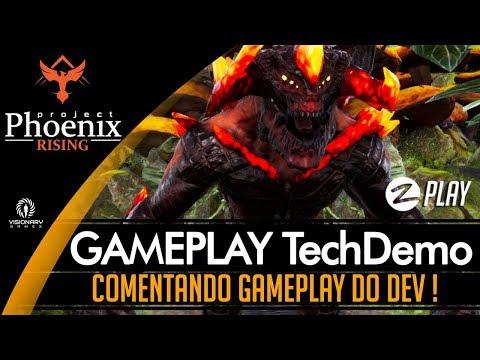 PROJECT PHOENIX RISING 🔴 COMENTANDO GAMEPLAY DO DEV EM MAIO DE 2018 !! VISIONARY GAMES