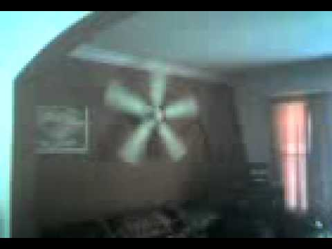 Ceiling fan on the wall youtube ceiling fan on the wall aloadofball Image collections