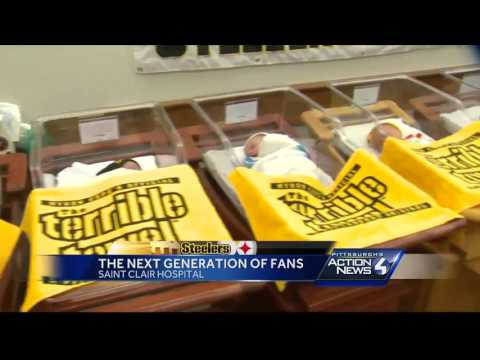 Draped in Terrible Towels, these newborn babies are the Steelers' youngest fans