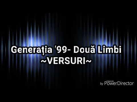 Generația '99- Două Limbi || VERSURI