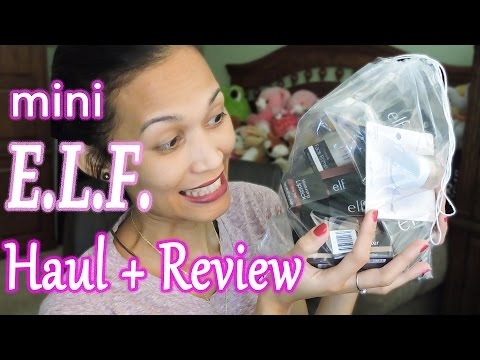 Mini E.L.F. Haul with Promo code FANFAVE4 and Product Review