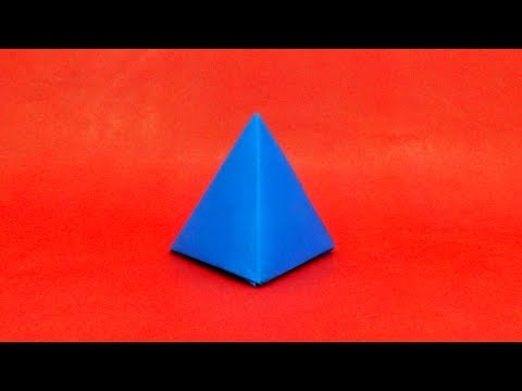 DIY - How To Make Paper Pyramid Box   Easy Origami Paper Crafts Pyramid   3D Pyramid Instructions