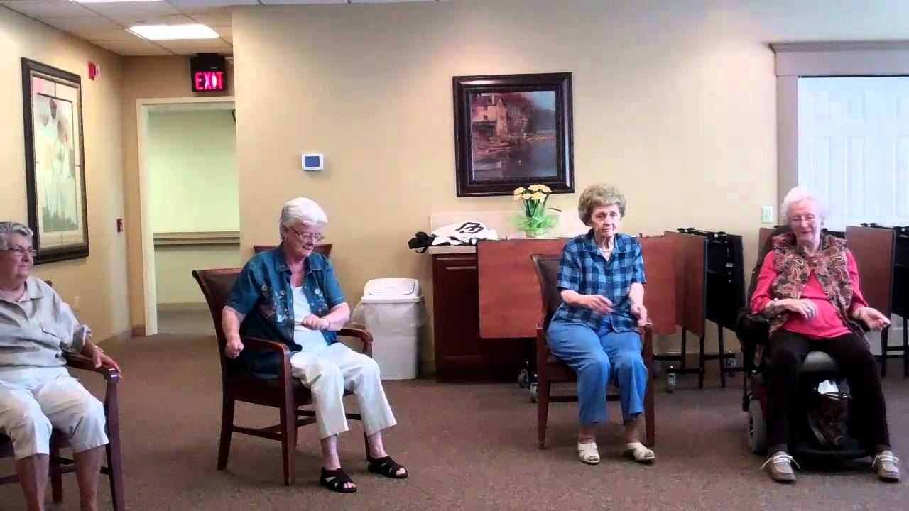 Chair Exercises For The Elderly Chair Dance Class 1 - YouTube