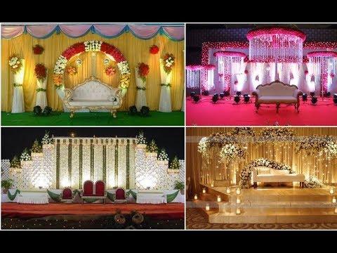 Indian Wedding reception stage decoration wedding stage