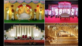 Indian Wedding Reception Stage Decoration, Wedding Stage Ideas, Reception Stage Decoration 2019