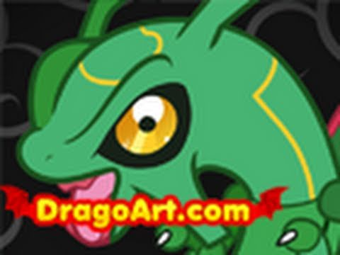 How To Draw Chibi Rayquaza Rayquaza Pokemon Step By Step