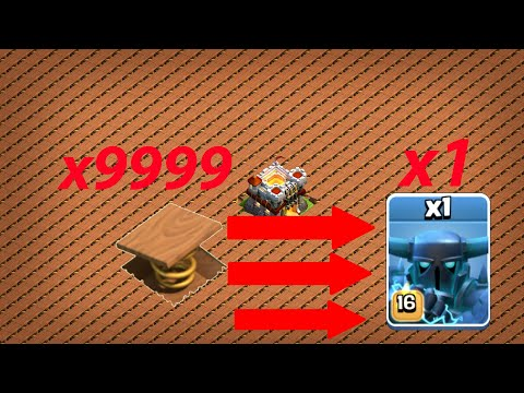 1 Max Super PEKKA Vs Full Spring Trap Base | COC PRIVATE SERVER