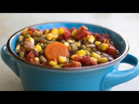 Pressure Cooker Vegetable Soup ~ Ninja Foodi Recipe