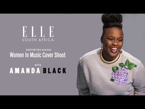 ELLE August Issue Cover Shoot with Amanda Black