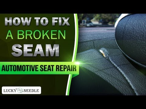 How to fix a broken seam by hand or with a sewing machine – Automotive Seat Repair