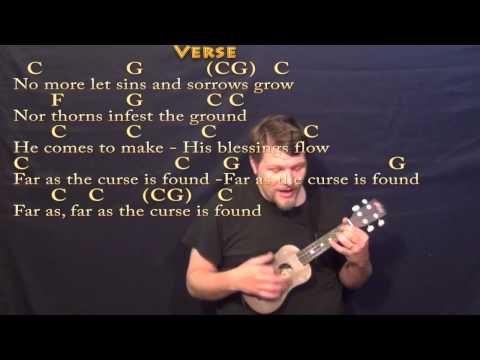 Joy to the World - Ukulele Cover Lesson in C with Chords/Lyrics