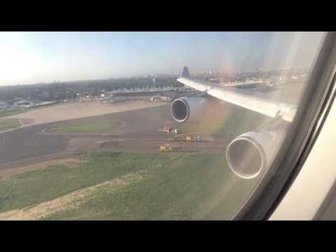 TAP A340-300 landing at Maputo, Mozambique