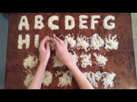 ABC Song Made with Rice (Alphabet Song)
