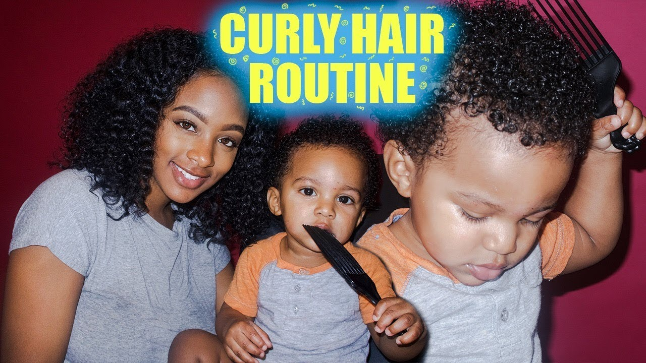 Mommy Toddler Curly Hair Wash Go Routine 3c 3b Hair Youtube