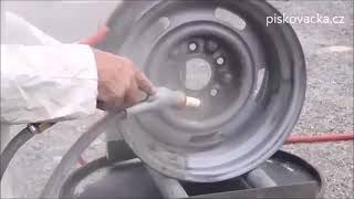 pískování auto kol - injektorovou pískovačkou - balotinou
