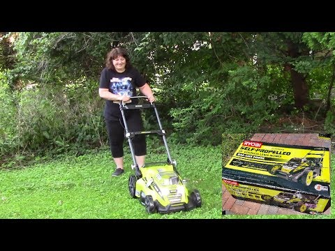 Unboxing My Ryobi Battery Powered Lawn Mower - 20 inch cordless