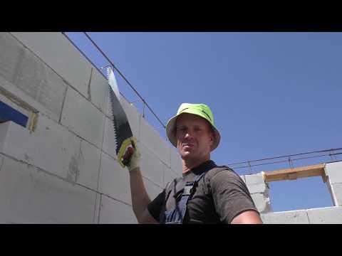 Как разобрать стену из пеноблоков не разбивая их