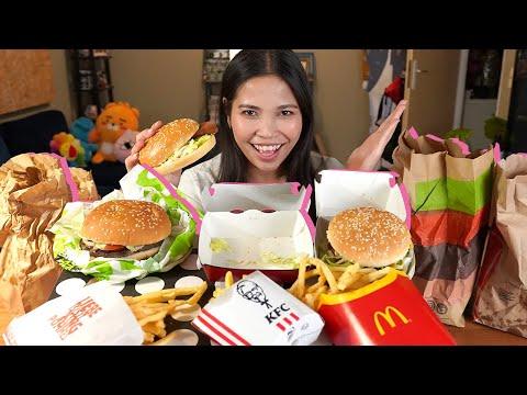 Ich Esse Zum 1. Mal Burger Von McDonalds, KFC & Burger King (nach 10 Jahren)