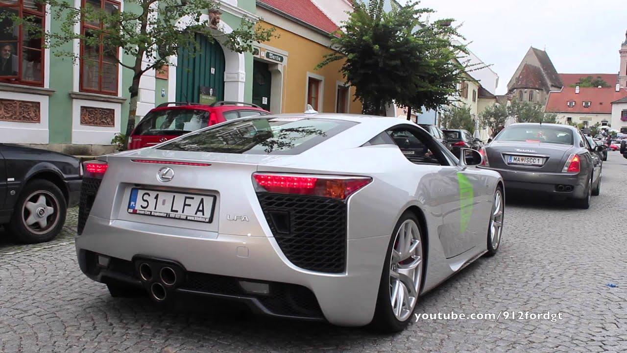 Lexus LFA LOUD Revs, Accelerations & Inside View! - YouTube