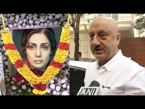 Emotional Anupam Kher Breaks Down Outside Sridevi's Residence After Her Death In Dubai