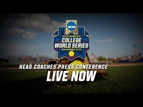 2016 Women's College World Series Head Coaches Press Conference 2