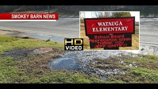 Sidewalks Covered In Sewage Near Ridgetop School