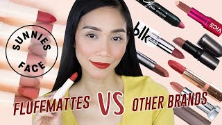 Most OVERHYPED Lipstick?! SUNNIES FACE FLUFFMATTE REVIEW & COMPARISON