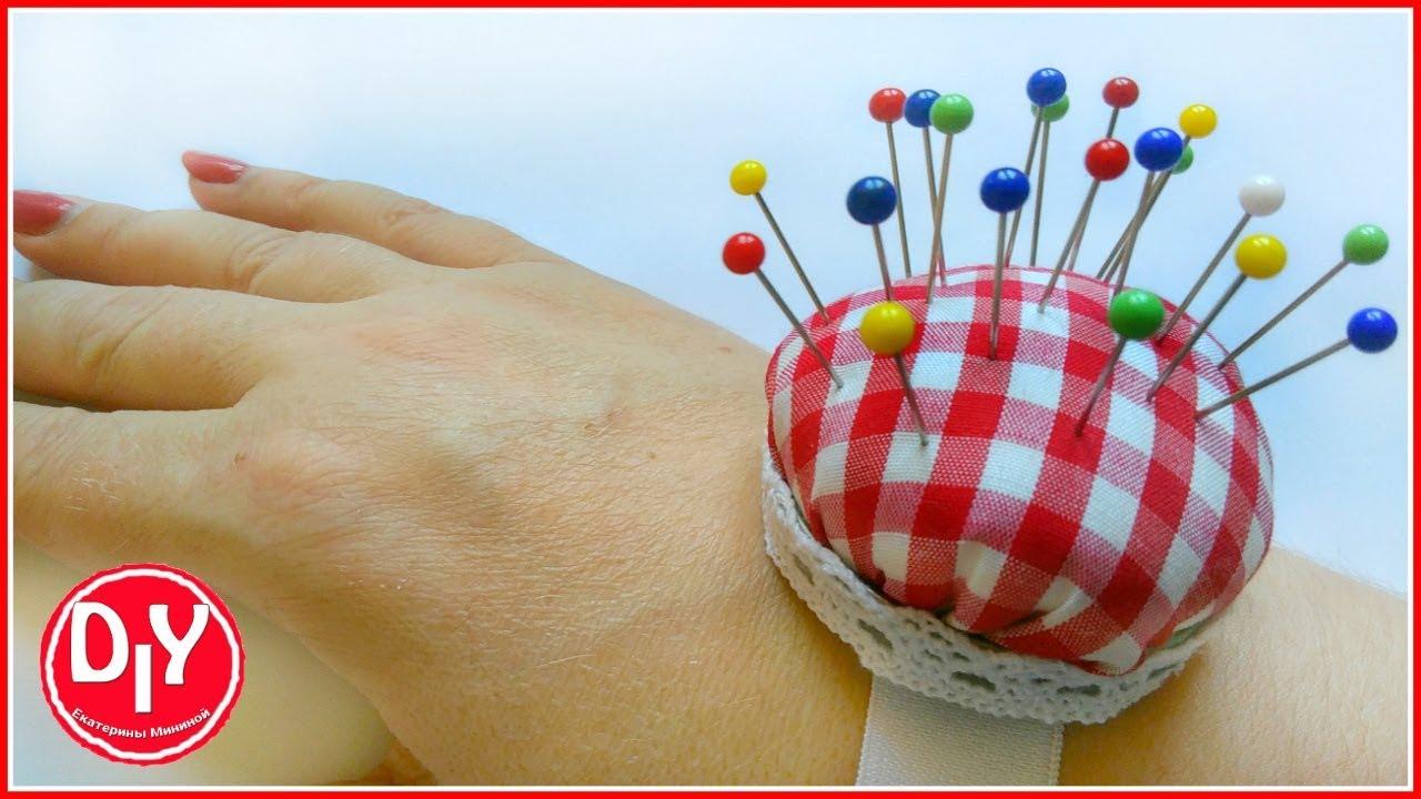 Как сшить игольницу шляпку на руку фото 592