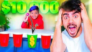 SI METES LA PELOTA EN EL VASO, TE GANAS $10.000!