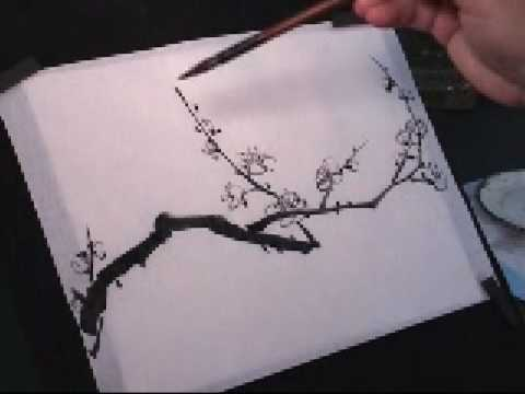 Plum Blossom Chinese Painting Tutorial (2 of 5)