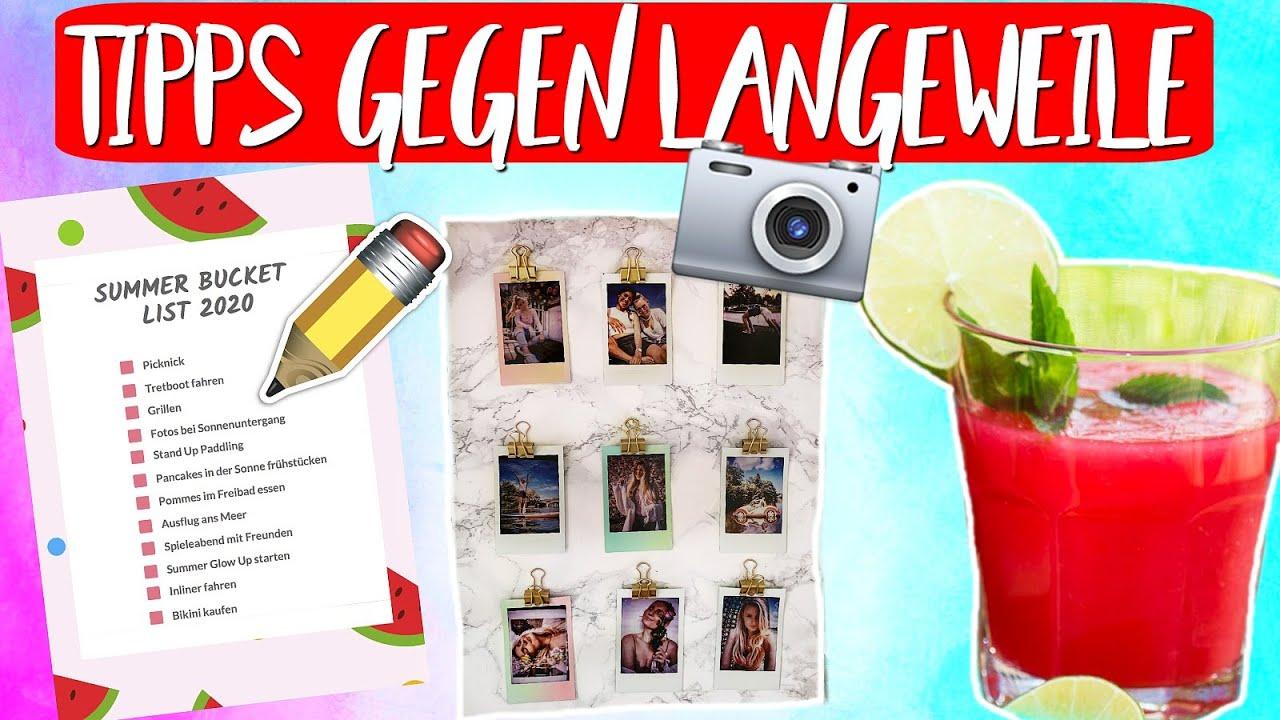 ENDLICH! 🎉  NEUE TIPPS GEGEN LANGEWEILE! DIY 🍉 Eistee, Polaroid 📸 DIY , Bucket List  & Mehr! 🙌